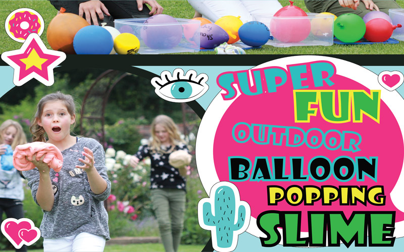 How to make slime with balloon popping