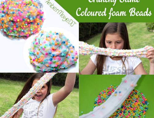 How to colour foam beads for slime