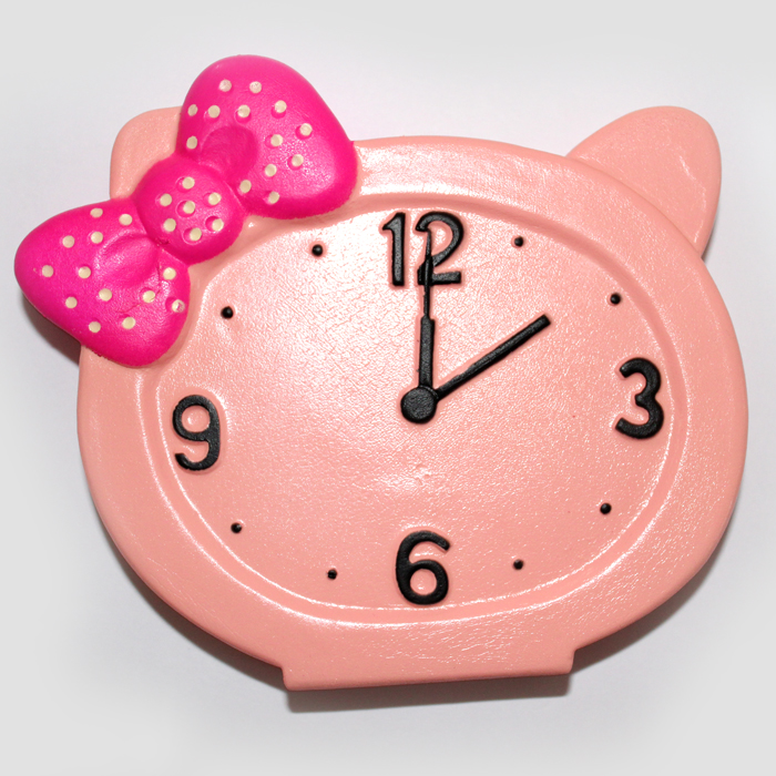 Peach Clock Squishy