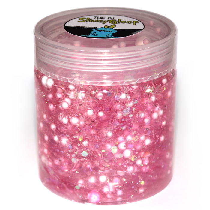 Popping Sensation Pink Clear slime