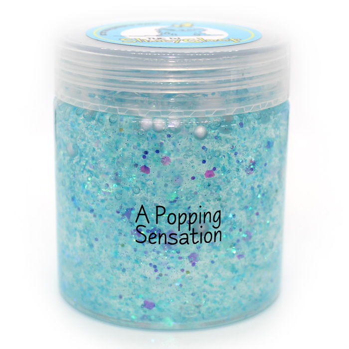 Popping Sensation Blue Clear slime