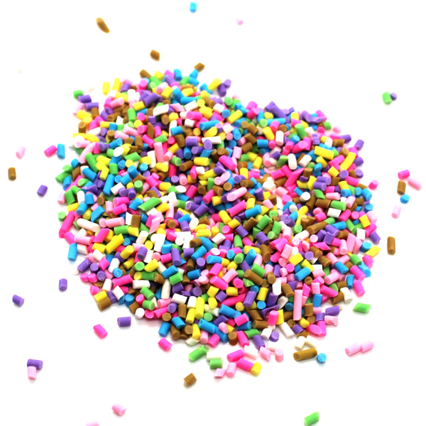 Coloured candy sprinkles for slime