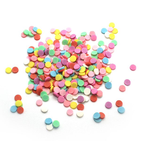 Coloured circle sprinkles for slime