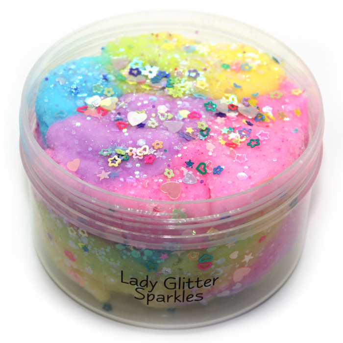 Lady Glitter sparkles cloud slime