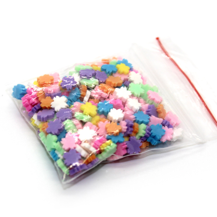 Coloured Flower sprinkles for slime