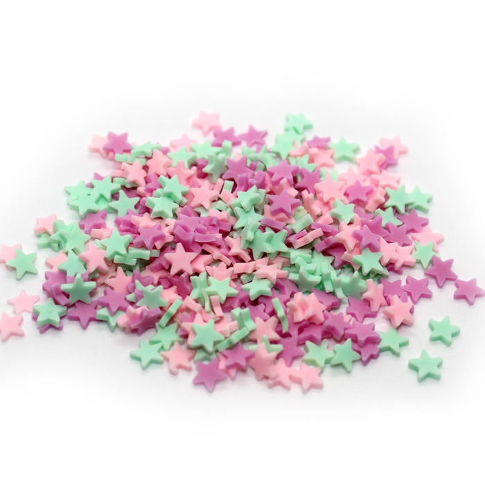 pastel star sprinkles for slime