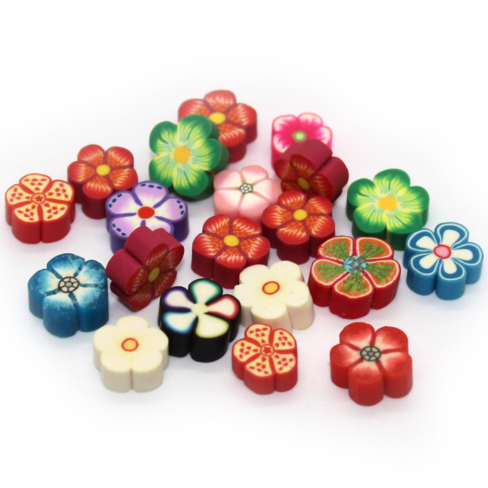 Thick Flower Fimo slices for Slime