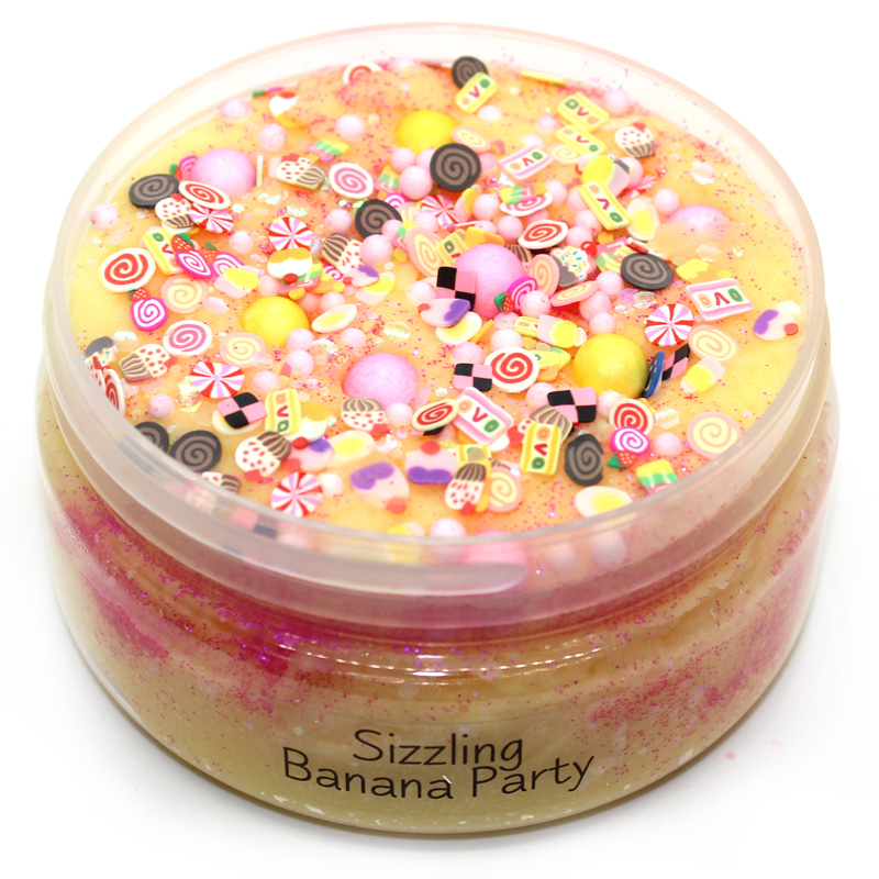 Sizzling Banana Party Icing Slime Scented