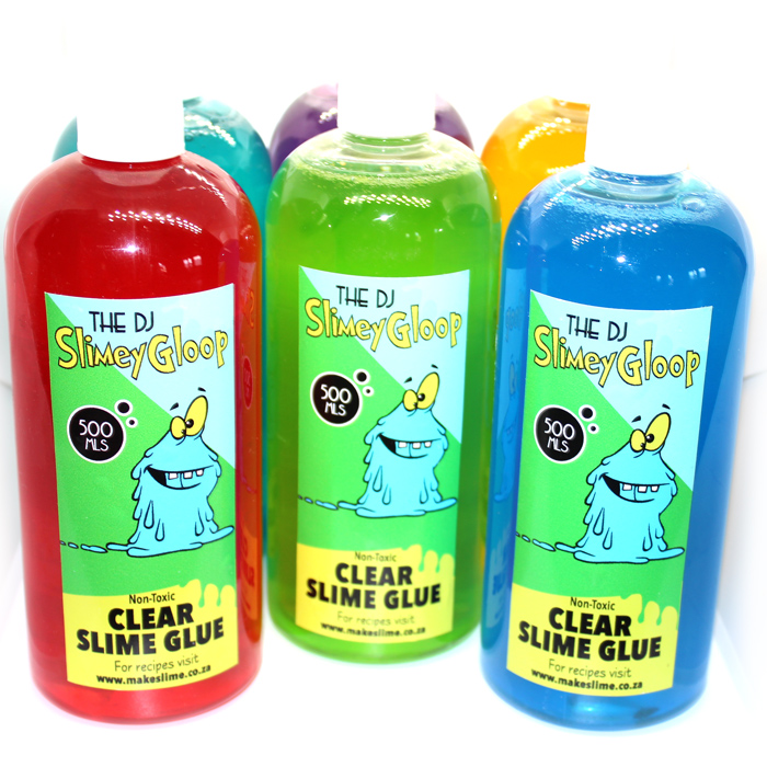 clear slime glue coloured