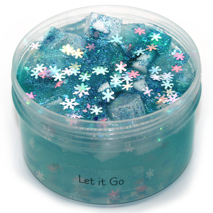 Let it Go clear Jelly cube slime