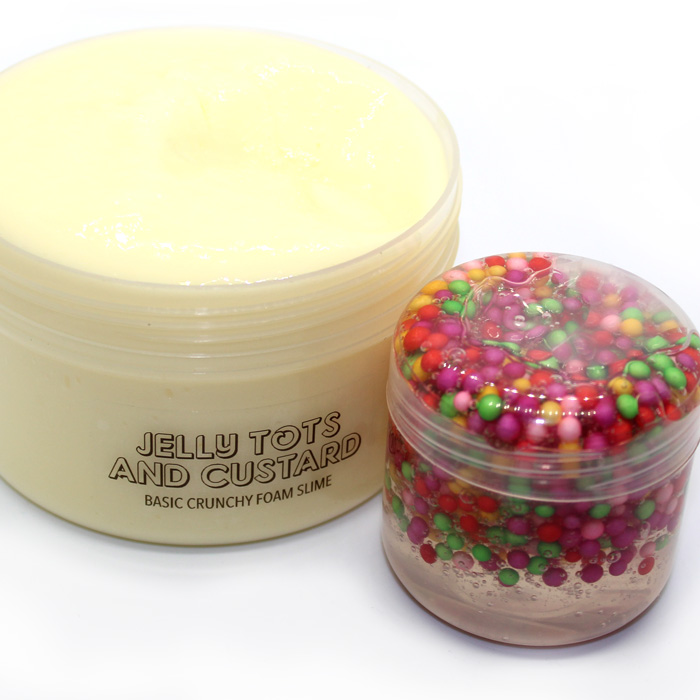 Jelly Tots and custard crunch slime