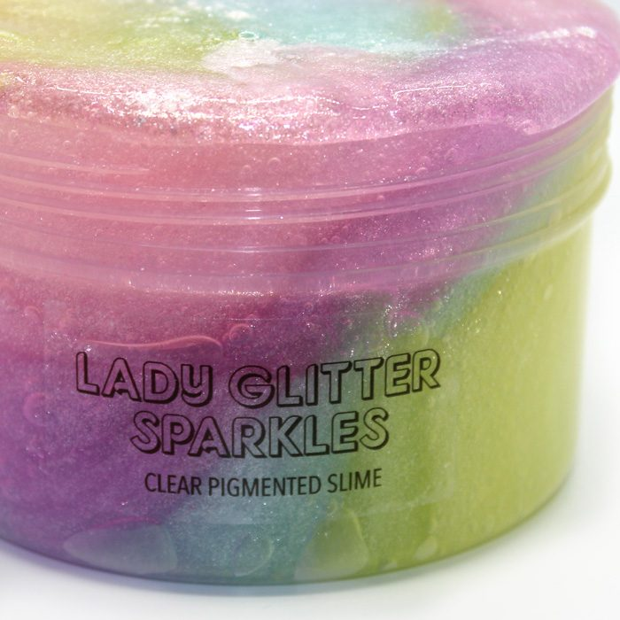 Lady Glitter Sparkles clear pigment slime