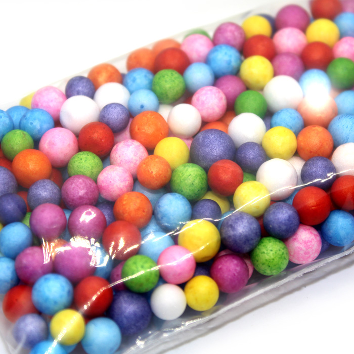 Mixed Colour foam beads large