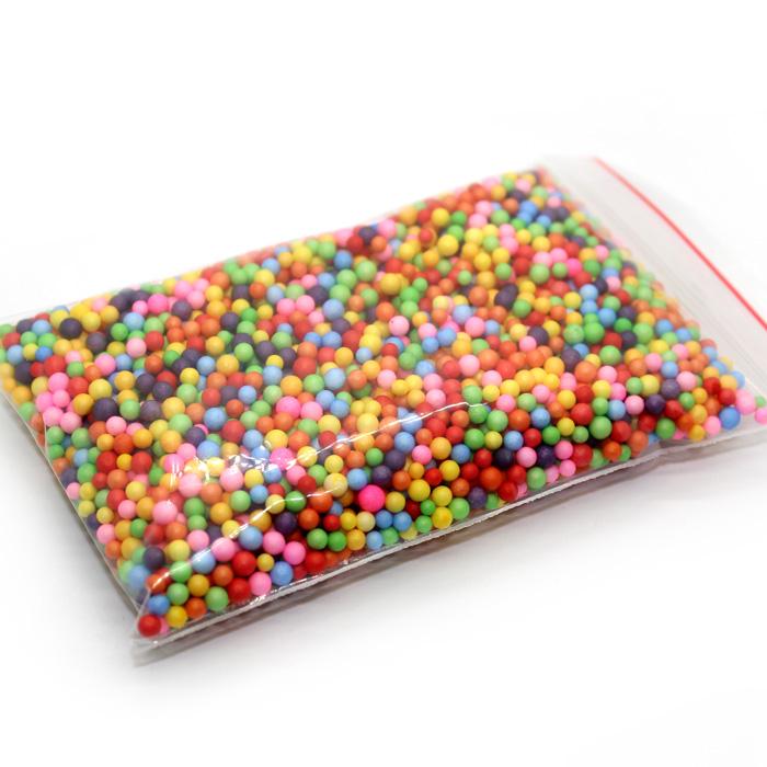 Mixed Colour foam beads medium