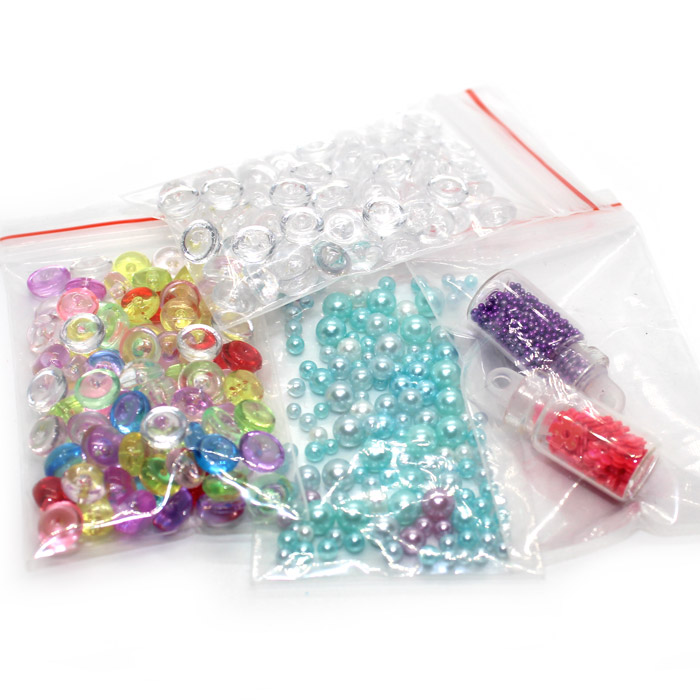 Mini bead, pearl and bottled confetti set