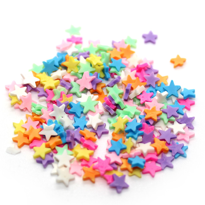 Colourful Star Sprinkles for slime