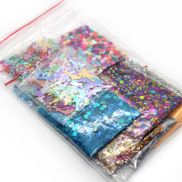 9pc glitter and confetti set