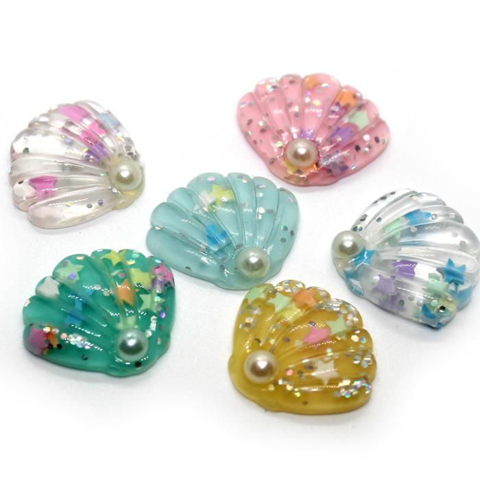 pretty shell charms
