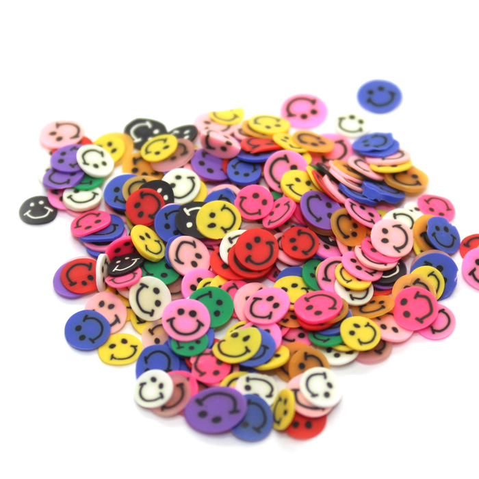 smiley face fimo slices