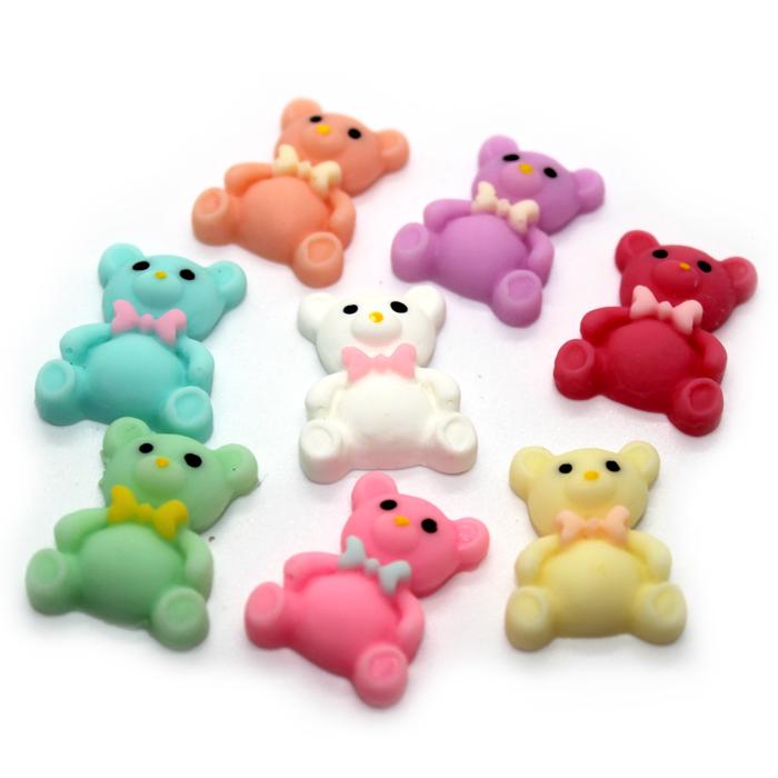 Teddy Bear charms for slime