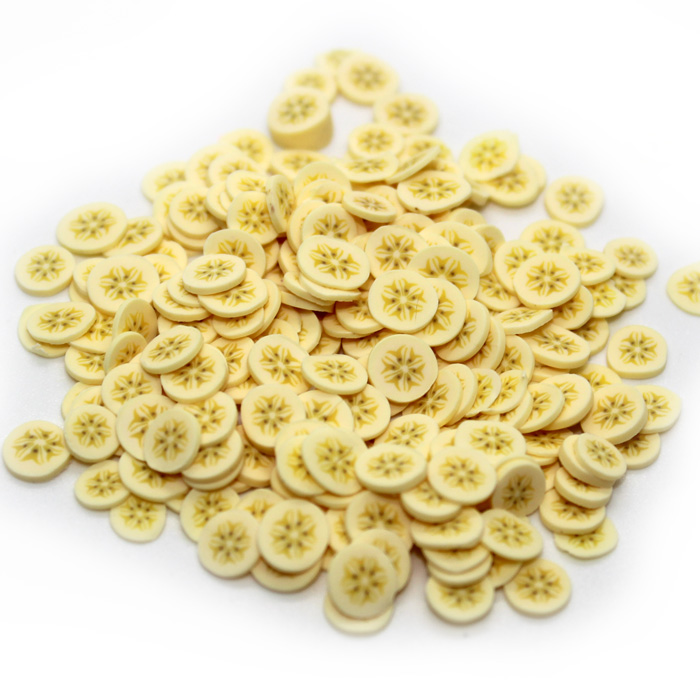 Banana Fimo slices for slime
