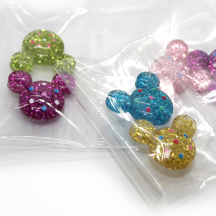 Glitter Mickey Mouse charms