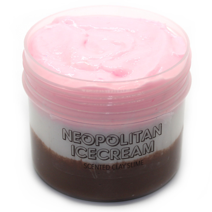 Neopolitan scented Clay slime