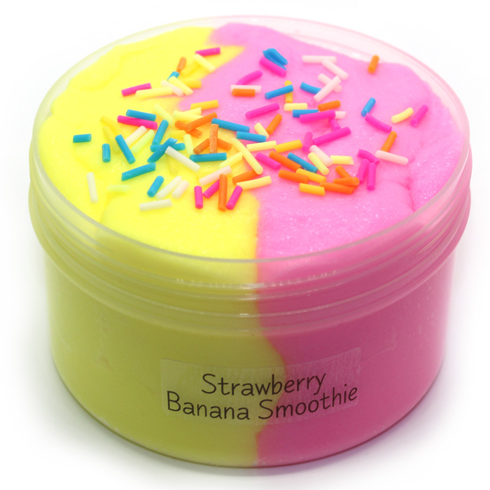 Strawberry Banana scented Icing slime