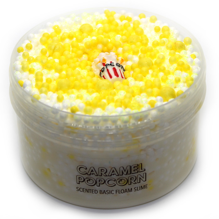 Caramel Popcorn scented floam Slime