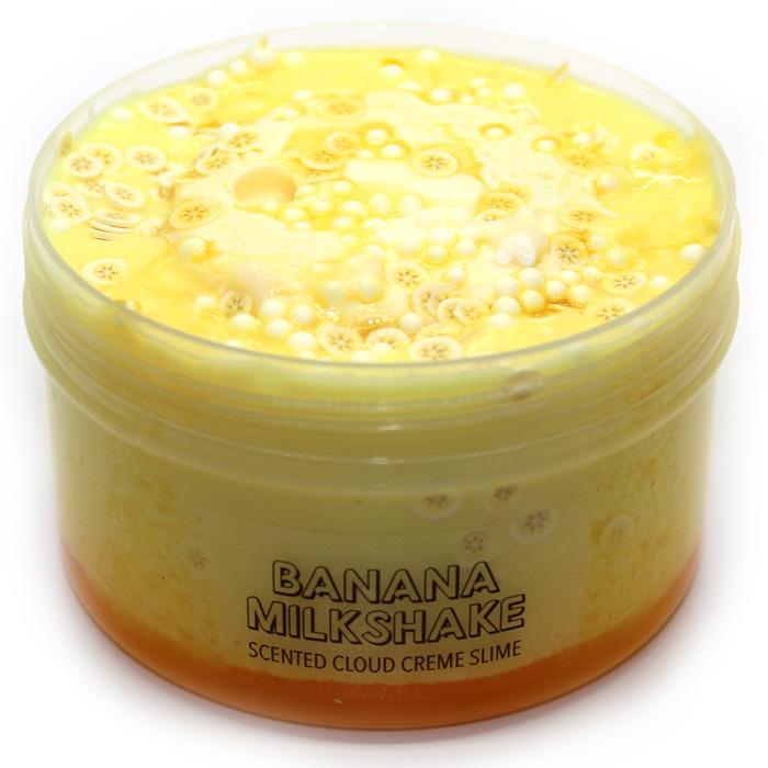 Banana Milkshake Cloud Creme Slime