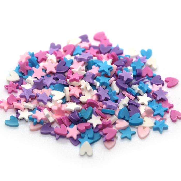 Hearts and Stars sprinkles for slime