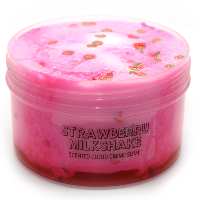 Strawberry Milkshake Cloud Creme Slime