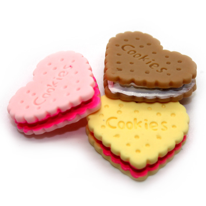 Cookie Wafer charms 3pc