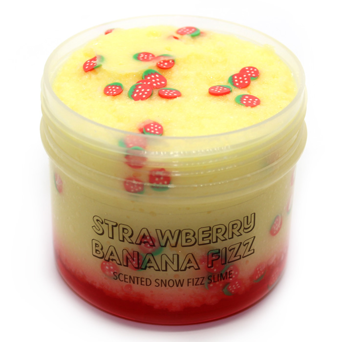 Strawberry Banana Fizz scented slime