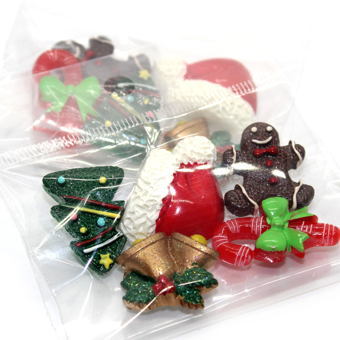 Christmas charms for slime 5pc
