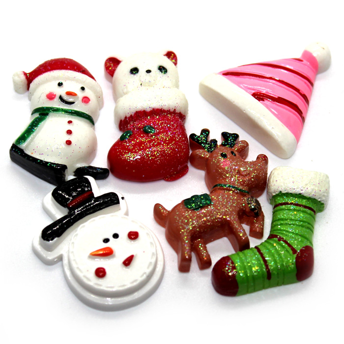 Christmas charms for slime 6pc