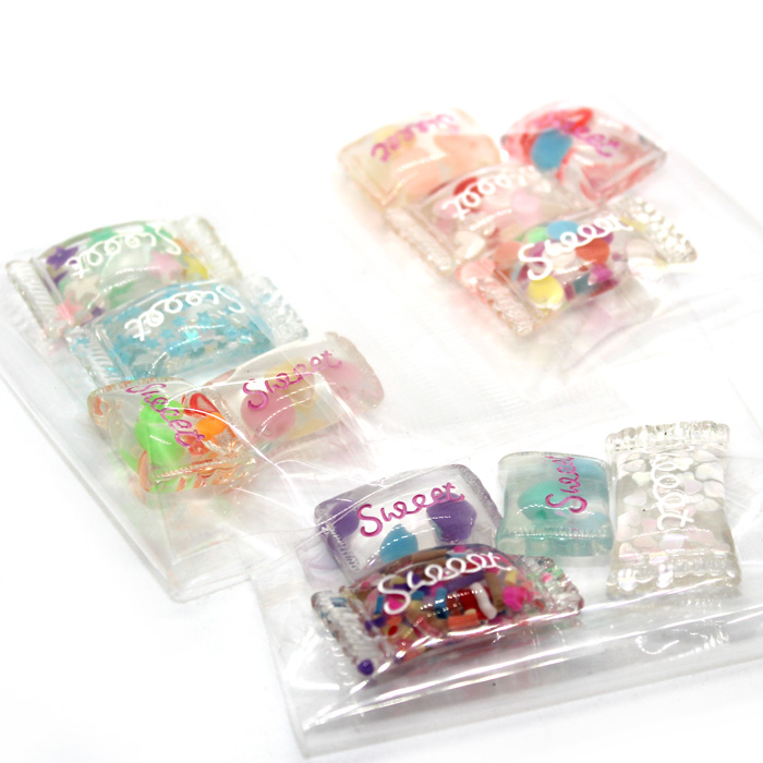 Clear candy sweets 4pc
