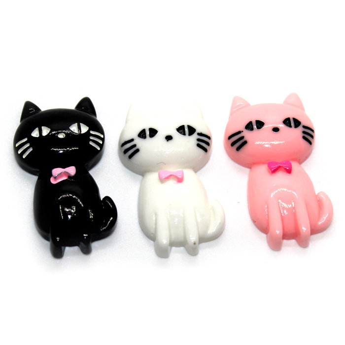 Three Cats charms
