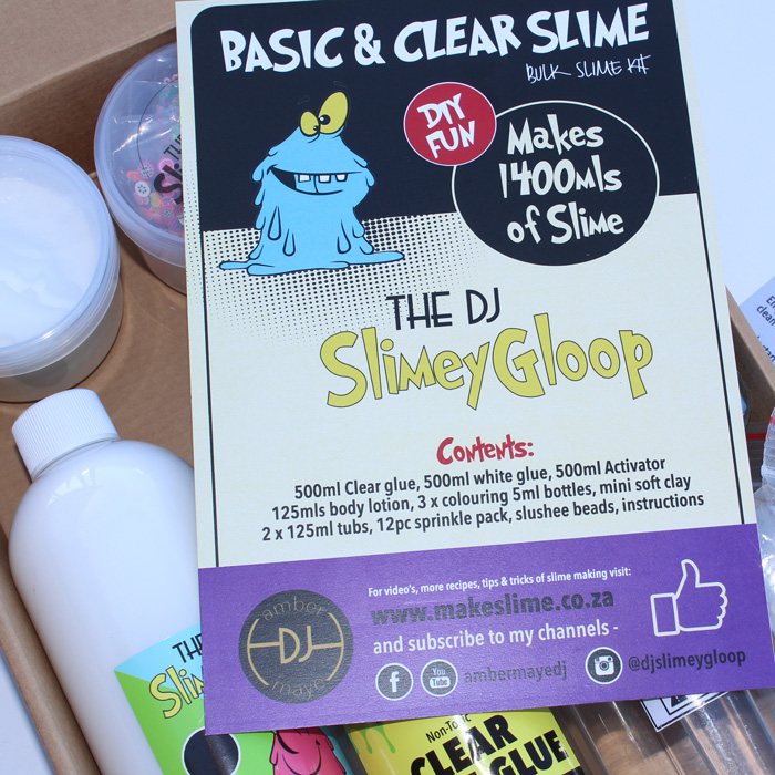 Basic and Clear DIY Slime kit
