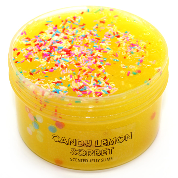 Candy Lemon sorbet scented Jelly Slime