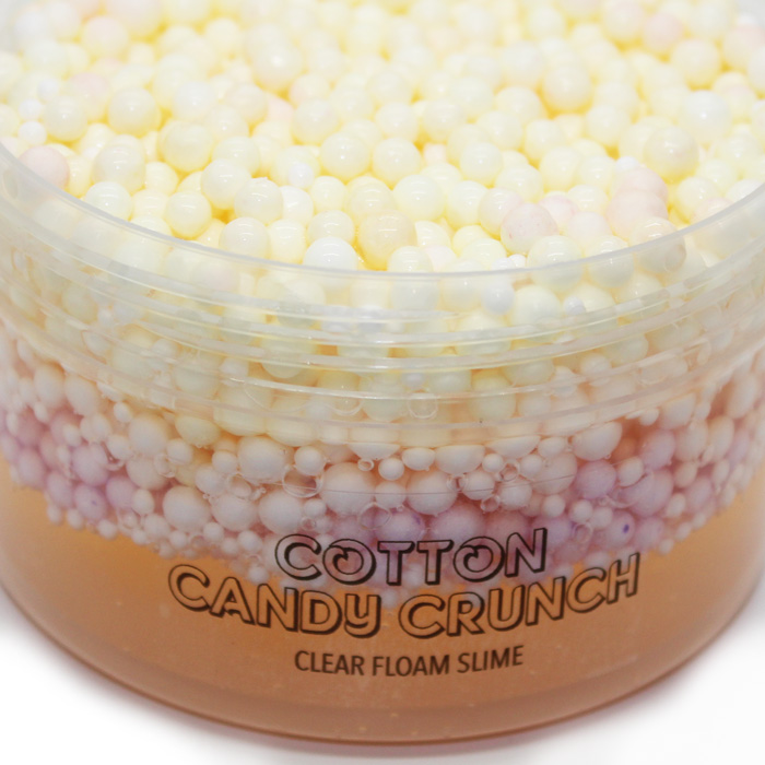 Cotton Candy crunch clear floam slime