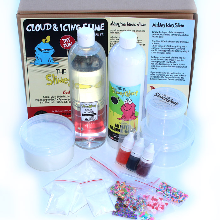 Icing and Cloud DIY slime kit
