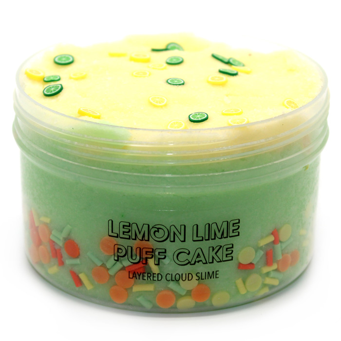 Lemon lime Puff cake cloud slime