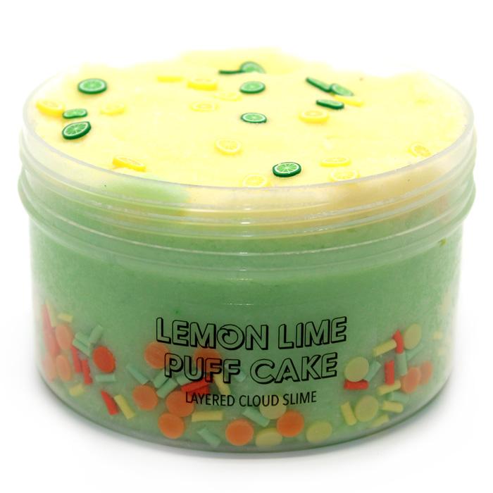 Lemon lime Puff cake cloud slime