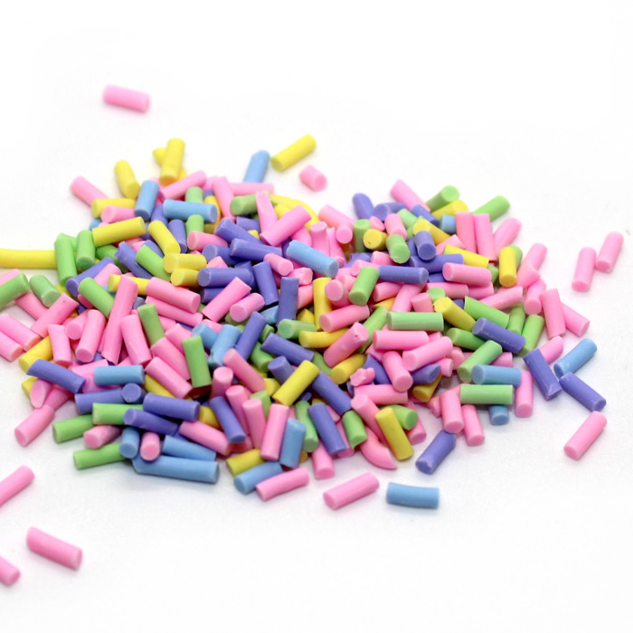 Pastel cupcake sprinkles mix for slime