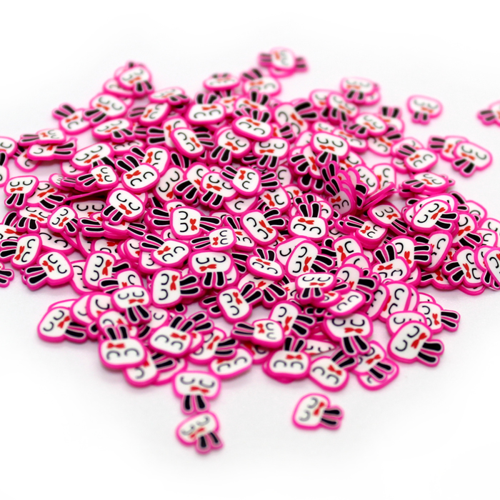 Pink Rabbit fimo slices for slime