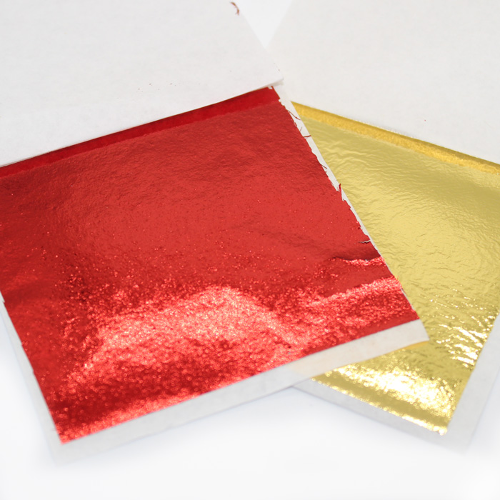 Red and Gold Leaf Paper for slime