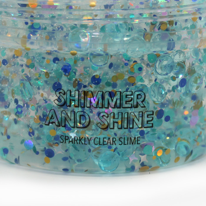 Shimmer and Shine blue clear slime