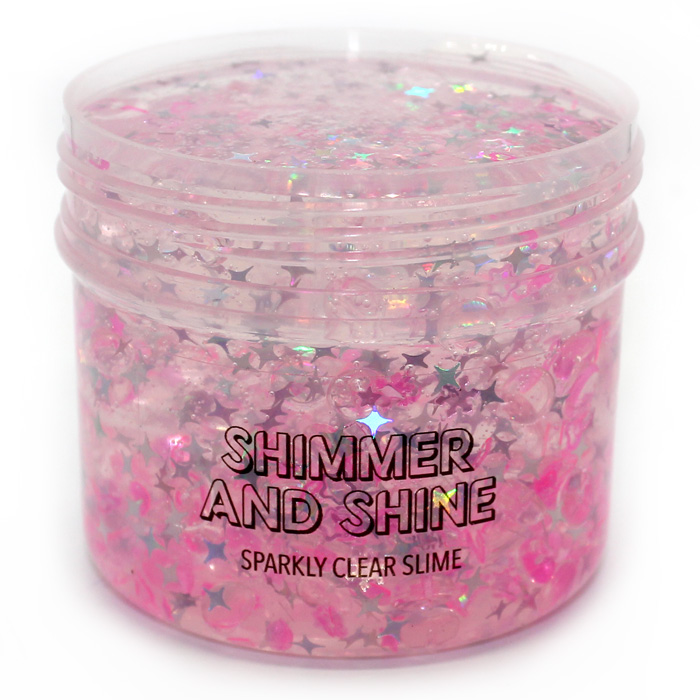 Shimmer and Shine pink clear slime