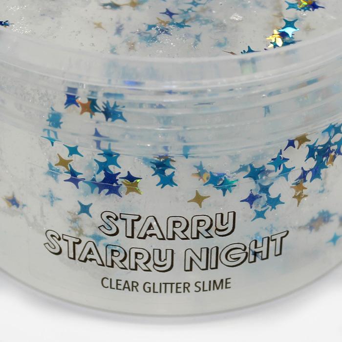 glitter clear slime